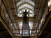 A staircase is pictured inside Reading prison during an exhibition photocall at the prison in Reading, west of London on September 1, 2016. Having closed it's doors as a conventional prison in 2013, Reading Prison opens to the public for a major new project in which leading artists, performers and …