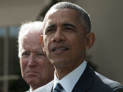 US President Barack Obama(R together with Vice President Joe Biden addresses, for the first time publicly, the shock election of Donald Trump as his successor, on November 9, 2016 at the White House in Washington, DC.