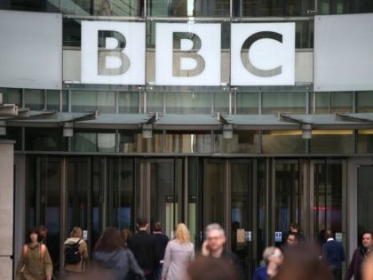 A general view of the headquarters of the British Broadcasting Corporation (BBC) in London on October 30, 2017. / AFP PHOTO / Daniel LEAL-OLIVAS (Photo credit should read DANIEL LEAL-OLIVAS/AFP via Getty Images)