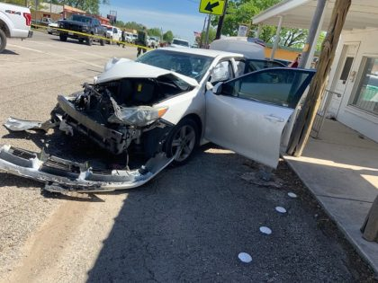 A suspected human smuggler crashed his Camry after a high-speed vehicle pursuit near the Mexican border. (Photo: U.S. Border Patrol/Del Rio Sector)