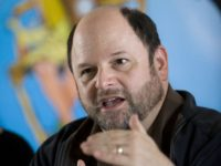 U.S. actor Jason Alexander talks during a press conference at a hotel in east Jerusalem, Wednesday, June 24, 2009. Alexander was a creator of Imagine 2018, a project that made short films out of Israeli and Palestinian high school students' stories about what the world would be like 10 years …