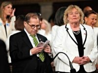 WASHINGTON, DC - FEBRUARY 04: U.S. House impeachment manager Jerry Nadler (D-NY) and Rep. Zoe Lofgren (D-CA) await the arrival of President Donald Trump for the State of the Union address on February 4, 2020 in Washington, DC. Trump is delivering his third State of the Union address on the …