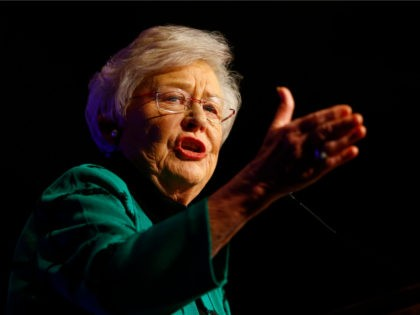 Alabama Governor Kay Ivey speaks to supporters after she won the election for Governor at a watch party, Tuesday, Nov. 6, 2018, in Montgomery, Ala. (AP Photo/Butch Dill)