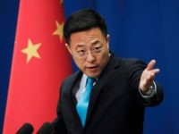 Chinese Foreign Ministry new spokesman Zhao Lijian gestures as he speaks during a daily briefing at the Ministry of Foreign Affairs office in Beijing, Monday, Feb. 24, 2020. China's foreign ministry on Monday said it didn't matter that three expelled journalists had nothing to do with a Wall Street Journal …