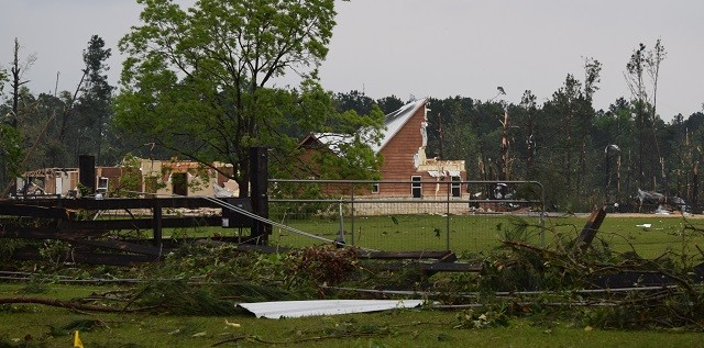 Little remains of a newly constructed home north of Onalaska following the April 22 tornado. (Photo: Lana Shadwick/Breitbart Texas)