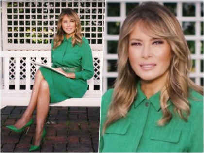 First Lady Melania Trump wished all Americans a happy Easter …