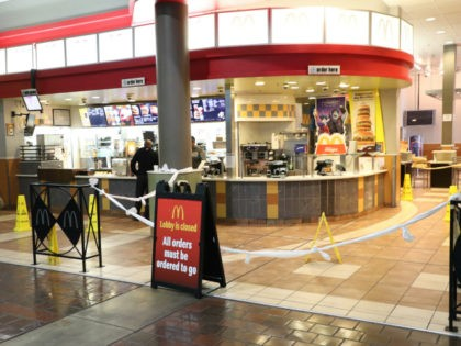 View of McDonald's as Washington Union Station seems empty Due To Coronavirus Pandemic as Amtrak has suspended nonstop Acela trains between New York and D.C. due to the coronavirus. March 18, 2020 in Washington, D.C. Credit: mpi34/MediaPunch /IPX via AP