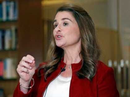 In this Feb. 1, 2019, Melinda Gates speaks while being interviewed in Kirkland, Wash. Bill and Melinda Gates are pushing back against a new wave of criticism about whether billionaire philanthropy is a force for good. The couple, whose foundation has the largest endowment in the world, said they're not …