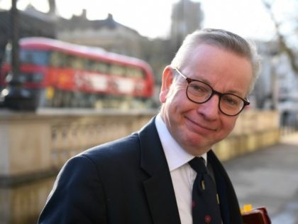 LONDON, ENGLAND - FEBRUARY 14: Michael Gove, Chancellor of the Duchy of Lancaster arrives for a cabinet meeting at Downing Street on February 14, 2020 in London, England. The Prime Minister reshuffled the Cabinet yesterday. High profile changes were Attorney General Geoffrey Cox, Business Secretary Andrea Leadsom, Housing Minister Esther …