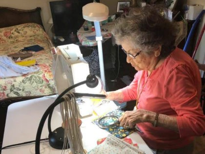 96-year-old Nancy Williams from Loganville, Georgia, is using her sewing skills to make sure people have what they need to protect themselves from the coronavirus.