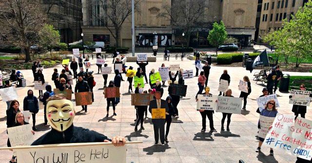 Breitbart Crowd Gathers Outside Ohio Statehouse to Protest Coronavirus Lockdown thumbnail