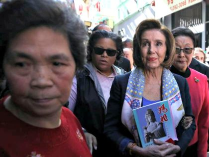 SAN FRANCISCO, CALIFORNIA - FEBRUARY 24: U.S. Speaker of the House Rep. Nancy Pelosi (C) (D-CA) tours San Francisco's Chinatown on February 24, 2020 in San Francisco, California. Nancy Pelosi joined community leaders on a merchant walk and dim sum lunch in San Francisco's Chinatown as concerns over the Coronavirus …
