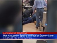 WATCH: Shoppers Tackle Man Who Allegedly Coughed, Spit on Food