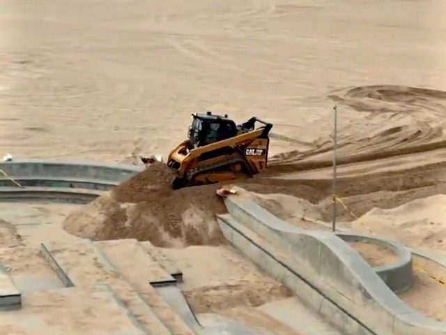 Skatepark Filled with Sand