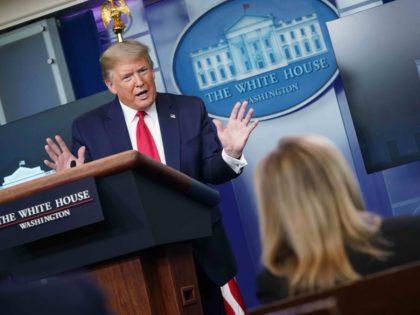 Trump White House briefing room (Mandel Gan / AFP / Getty)