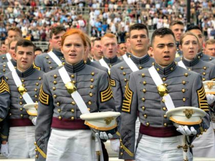David Dee Delgado/Getty Images The commencement ceremony last year at the Military Academy in West Point, N.Y.