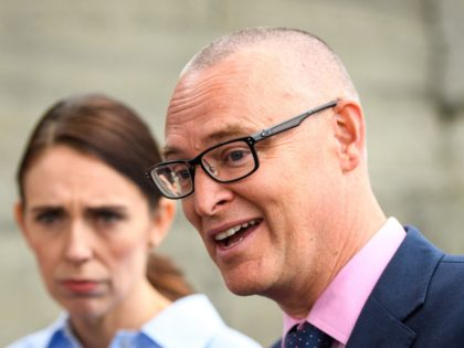 WELLINGTON, NEW ZEALAND - MARCH 12: Health Minister David Clark speaks to media during Prime Minister Jacinda Ardern's visit to Island Bay Medical Centre which is preparing for COVID-19 Cases on March 12, 2020 in Island Bay, Wellington, New Zealand. (Photo by Mark Tantrum/Getty Images)