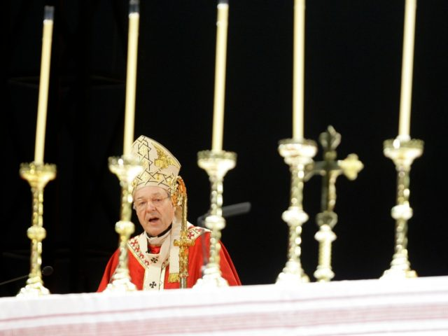 FILE - In this July 15, 2008, file photo, Cardinal George Pell speaks during the opening mass for World Youth Day in Sydney. Pell was sentenced in an Australian court on Wednesday, March 13, 2019 to 6 years in prison for molesting two choirboys in a Melbourne cathedral more than …