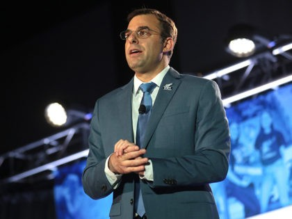 U.S. Congressman Justin Amash speaking with attendees at the 2019 Young Americans for Liberty Convention at the Best Western Premier Detroit Southfield Hotel in Detroit, Michigan.