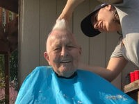96-Year-Old WWII Veteran Gets Mohawk to Bring Cheer amid Coronavirus