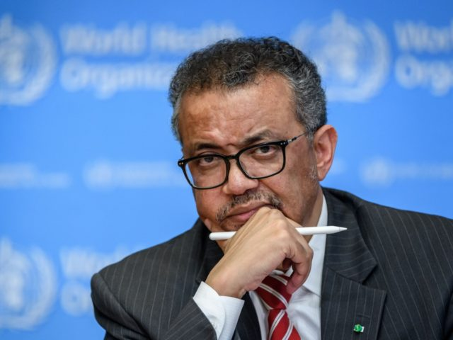 World Health Organization (WHO) Director-General Tedros Adhanom Ghebreyesus attends a daily press briefing on COVID-19, the disease caused by the novel coronavirus, at the WHO heardquaters in Geneva on March 11, 2020. - WHO Director-General Tedros Adhanom Ghebreyesus announced on March 11, 2020, that the new coronavirus outbreak can now …