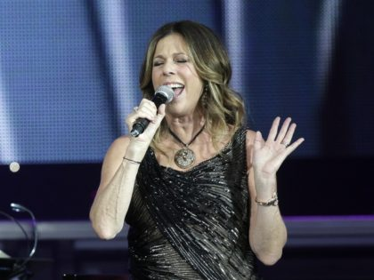 Rita Wilson performs at Muhammad Ali's Celebrity Fight Night XIX at the JW Marriott Desert Ridge Resort and Spa on Saturday, March 23, 2013 in Phoenix, Ariz. (Photo by Rick Scuteri/Invision/AP)