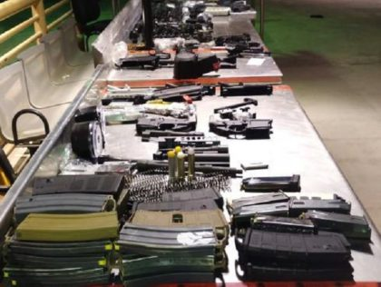 Presidio Port of Entry CBP officers seized a cache of firearms parts and ammunition headed to Mexico. (Photo: U.S. Customs and Border Protection/El Paso Sector)