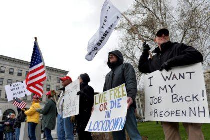 Hundreds Protest Against Coronavirus Lockdown Rules