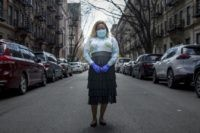 "Tiffany Pinckney poses for a portrait in the Harlem neighborhood of New York on April 1, 2020. After a period of quarantine at home separated from her children, she has recovered from COVID-19. Pinckney became one of the nations first donors of ""convalescent plasma."" Doctors around the world are dusting …"