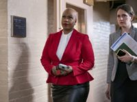 In this Wednesday, March 11, 2020, file photo, Rep. Ayanna Pressley, D-Mass., and other House Democrats arrive to meet with Speaker of the House Nancy Pelosi, D-Calif., on Capitol Hill in Washington. Democratic lawmakers are calling out an apparent lack of racial data that they say is needed to monitor …