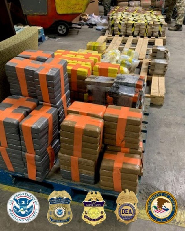 This March 2020 photo provided by the U.S. Border Patrol shows drugs seized from a tunnel under the Otay Mesa area of San Diego, Calif. Federal authorities seized a panoply of narcotics inside the newly discovered underground passage connecting a warehouse in Tijuana with south San Diego. The bust of …