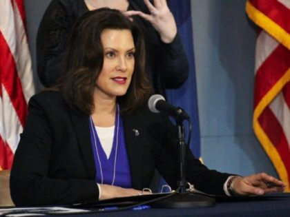 This photo provided by the Michigan Office of the Governor, Michigan Gov. Gretchen Whitmer addresses the state during a speech in Lansing, Mich., Friday, April 17, 2020. Whitmer said she hopes to gradually begin reopening the state's economy on May 1 after weeks of a strict stay-at-home order that has …