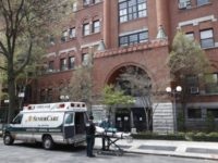 Emergency medical workers arrive at Cobble Hill Health Center, Friday, April 17, 2020, in the Brooklyn borough of New York. The despair wrought on nursing homes by the coronavirus was laid bare Friday in a state survey identifying numerous New York facilities where multiple patients have died. (AP Photo/John Minchillo)