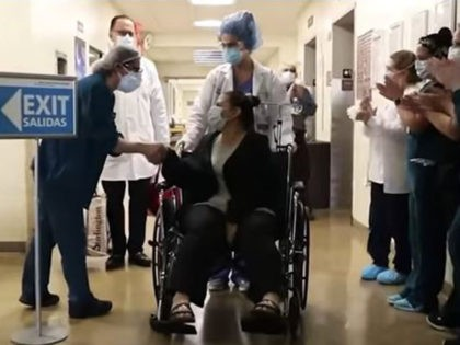 hospital workers cheer