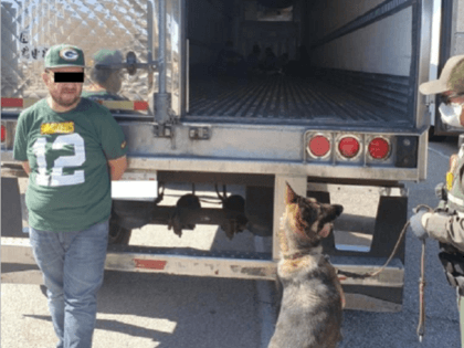 El Centro Sector Border Patrol agents arrested an illegal alien human smuggler and 12 illegal alien at an interior immigration checkpoint. (Photo: U.S. Border Patrol/El Centro Sector)