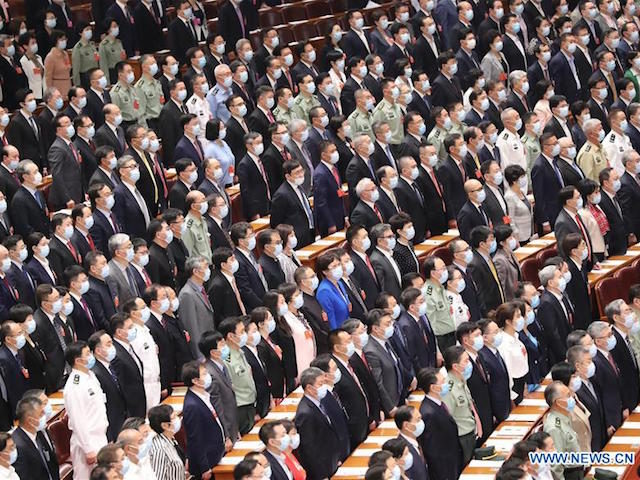 "China's ""Two Sessions"" legislative meeting on May 21, 2020."