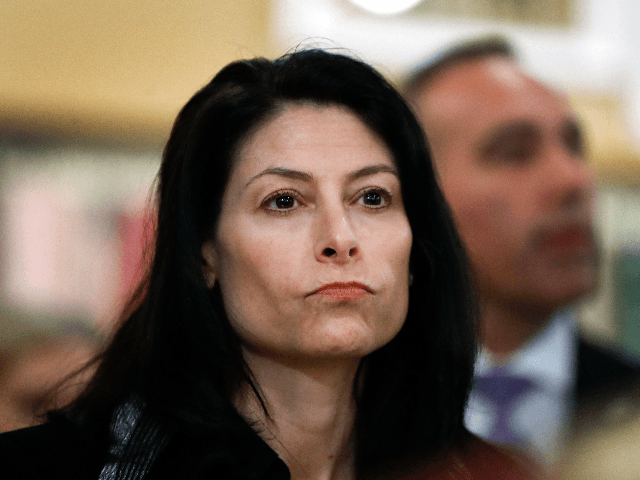 In this March 18, 2019, file photo, Michigan Attorney General Dana Nessel attends an event for Democratic presidential candidate Sen. Kirsten Gillibrand, D-N.Y., in Clawson, Mich. Nessel said Wednesday, May 22, that a Republican-enacted law making it harder to put proposals on the ballot is unconstitutional. Her opinion binds state …