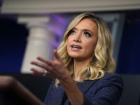 White House press secretary Kayleigh McEnany speaks during a press briefing at the White House, Tuesday, May 12, 2020, in Washington. (AP Photo/Evan Vucci)