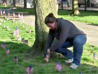 Boston Nurse Plants 500 Flags