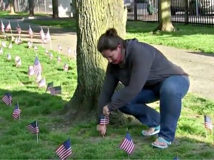 Boston Nurse Plants 500 Flags