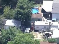Dallas police find boy tied up and locked in a shed. (CBSDFW Video Screenshot)