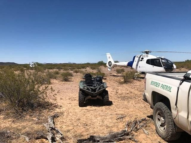 CBP Aircrew rescues a group of migrants who became dehydrated in the Arizona desert. (Photo: U.S. Border Patrol/Yuma Sector)