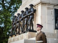 Pictured is Guardsman Walker at the Guards Memorial. As the day dawned on the 75th anniversary of Victory in Europe Day, the Secretary of State for Defence, Ben Wallace, laid a wreath at a small and poignant ceremony at the Guard's Memorial, St James Park. He was accompanied by General …