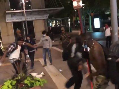 Dallas Man beaten nearly to death by mob at George Floyd protest. (Photo: Twitter Screenshot/Blaze TV/@Elijah Schaffer)