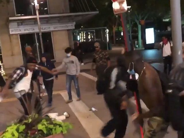 Dallas Man beaten nearly to death by mob at George Floyd protest. (Photo: Twitter Screenshot/Blaze TV/@Elijah Schaffer)