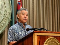 Hawaii Gov. David Ige speaks at a news conference in Honolulu on Wednesday, July 17, 2019, about issuing an emergency proclamation in response to protesters blocking a road to prevent the construction of a giant telescope. Thousands of protesters joined a swelling effort to stop construction of a telescope they …