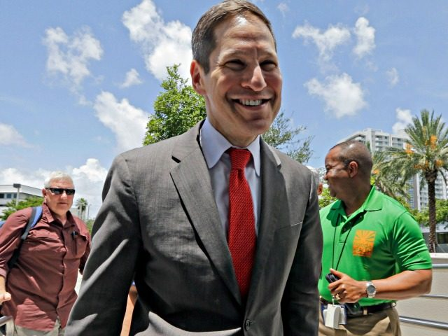 Centers for Disease Control and Prevention Director Dr. Tom Frieden arrives at the Florida Department of Health in Miami-Dade County, Thursday, Aug. 4, 2016, in Miami. The CDC has warned expectant mothers to steer clear of the city's Wynwood neighborhood, where at least 15 people are believed to have been …