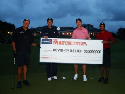 Charity Golf Match Featuring Woods, Manning, Mickelson, and Brady Smashes TV Ratings Record