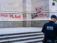 Protesters Vandalize St. Patrick's Cathedral with Anti-Police Graffiti