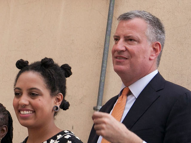 GRASSANO, ITALY - JULY 24: New York City Mayor Bill de Blasio (R), Chirlane McCray (2L), Chiara de Blasio (2R) and Dante de Blasio (L) visit the house his grandmother was born in during a visit to Mayor de Blasio's grandmother's town on July 24, 2014 in Grassano, Italy. The …